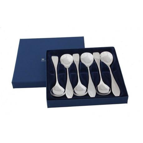 Zestaw srebrnych łyżeczek do lodów - 6 szt.