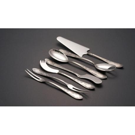 Zestaw srebrnych sztućców serwingowych - 7 szt.