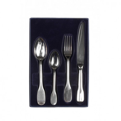 Zestaw sztućców obiadowo-deserowych ze stali szlachetnej - 4 szt.