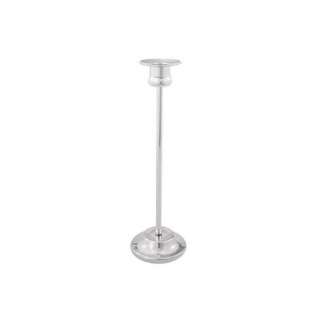 Posrebrzany świecznik - prostota i elegancja na stole