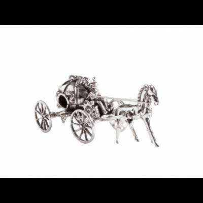 Kareta z dynią - srebrna figurka