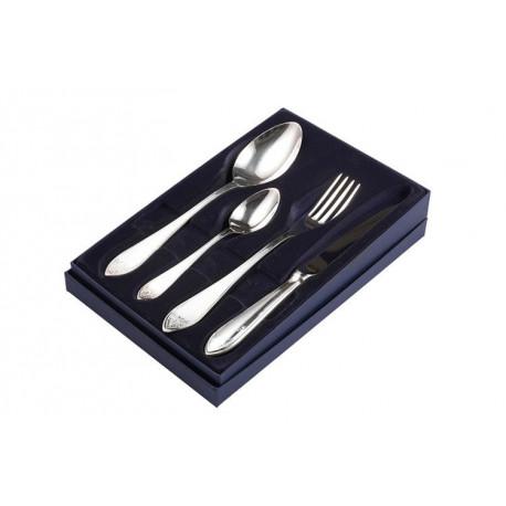 Zestaw srebrnych sztućców obiadowych - 4 szt.