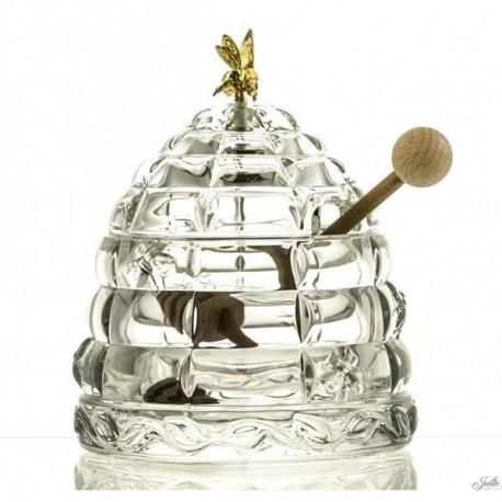 kryształowe naczynie na miód