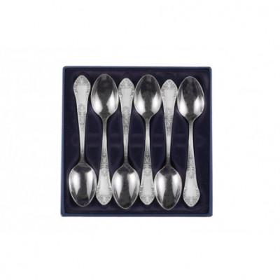 Zestaw srebrnych łyżeczek do herbaty - 6 szt.