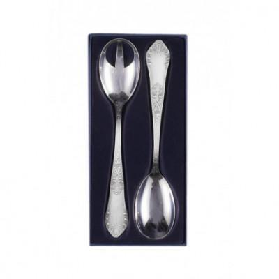 Zestaw srebrnych sztućców do sałat - 2 szt. (model romański)