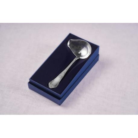 Srebrny czerpak do sosu (model romański)