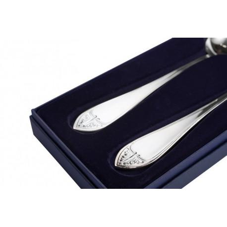 Zestaw srebrnych sztućców półmiskowych - 2 szt. (model francuski)