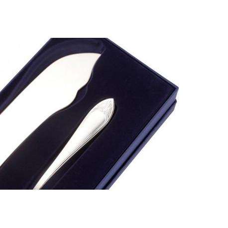Zestaw srebrnych sztućców do tortu - 2 szt. (model francuski)