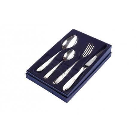 Zestaw sztućców obiadowych ze stali szlachetnej - 4 szt. - Model Angielski