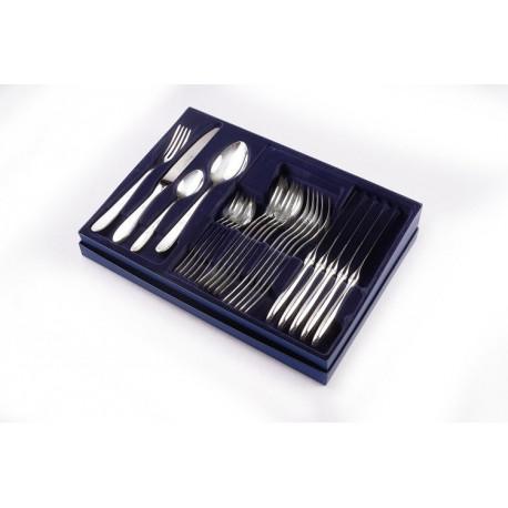 Zestaw sztućców obiadowych ze stali szlachetnej - 24 szt. - model angielski