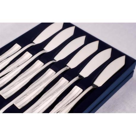 Zestaw sztućców do ryb ze stali szlachetnej - 12 szt. - model wschodni