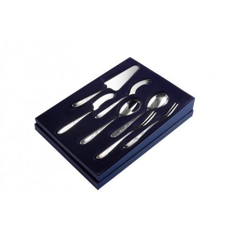 Zestaw sztućców serwingowych ze stali szlachetnej - 7 szt. - model Angielski