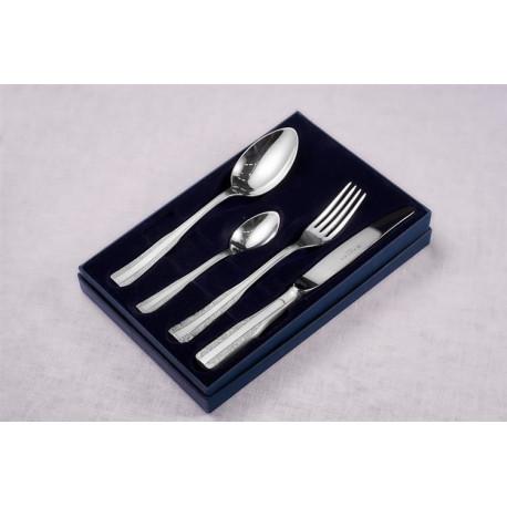 Zestaw sztućców obiadowych ze stali szlachetnej - 4 szt. - model Wschodni