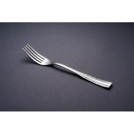 Zestaw posrebrzanych sztućców obiadowych, oksydowany - 4 szt.